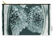 Vintage Glass Cyanoplate Dahlias Carry-all Pouch