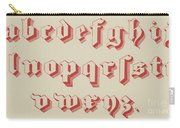 Vintage Gothic Font Red Carry-all Pouch