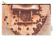 Vintage Grinder With Sacks Of Coffee Beans Carry-all Pouch