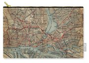 Vintage Hamburg Railway Map - 1910 Carry-all Pouch
