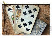 Vintage Hand Of Cards Carry-all Pouch