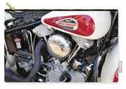 Vintage Harley V Twin Carry-all Pouch by David Lee Thompson