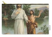 Vintage Illustration Of The Baptism Of Christ Carry-all Pouch