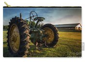 Vintage John Deere At Sunset Carry-all Pouch