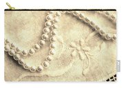 Vintage Lace And Pearls Carry-all Pouch
