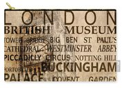 Vintage London Sepia Carry-all Pouch