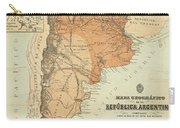 Vintage Map Of Argentina - 1882 Carry-all Pouch