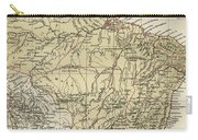 Vintage Map Of Brazil - 1889 Carry-all Pouch