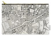Vintage Map Of Cambridge England - 1690 Carry-all Pouch