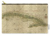 Vintage Map Of Cuba - 1639 Carry-all Pouch
