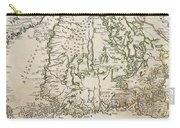 Vintage Map Of Finland - 1740s Carry-all Pouch