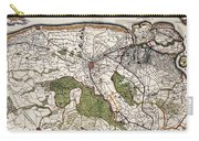 Vintage Map Of Flanders Belgium - 17th Century Carry-all Pouch