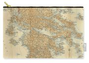 Vintage Map Of Greece - 1894 Carry-all Pouch