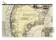 Vintage Map Of Greenland - 1791 Carry-all Pouch