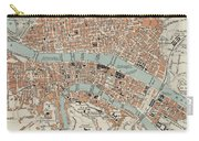 Vintage Map Of Lyon France - 1888 Carry-all Pouch