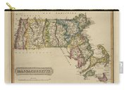 Antique Map Of Massachusetts Carry-all Pouch