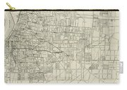 Vintage Map Of Memphis Tennessee - 1911 Carry-all Pouch
