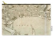 Vintage Map Of Messina Italy - 1900 Carry-all Pouch