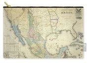 Vintage Map Of Mexico - 1847 Carry-all Pouch
