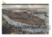 Vintage Map Of New York And Brooklyn Circa 1875 Carry-all Pouch