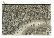 Vintage Map Of New York City - 1842 Carry-all Pouch
