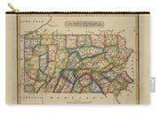 Antique Map Of Pennsylvania Carry-all Pouch