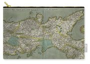 Vintage Map Of The Kingdom Of Naples - 1608 Carry-all Pouch