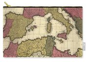 Vintage Map Of The Mediterranean - 1695 Carry-all Pouch