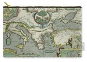 Vintage Map Of The Mediterranean Sea - 1608 Carry-all Pouch