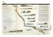 Vintage Map Of The U.s. West Coast - 1853 Carry-all Pouch