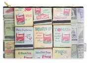 Vintage Matchbooks Carry-all Pouch