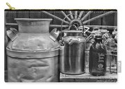Vintage Milk In Black And White Carry-all Pouch