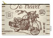 Vintage Motorcycling Mancave-a Carry-all Pouch