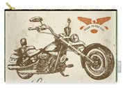 Vintage Motorcycling Mancave-c Carry-all Pouch
