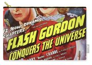 Vintage Movie Posters, Flash Godon Conquers The Universe Carry-all Pouch