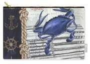 Vintage Nautical Crab Carry-all Pouch