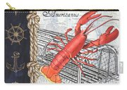 Vintage Nautical Lobster Carry-all Pouch