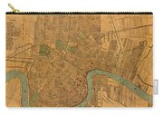 Vintage New Orleans Louisiana Street Map 1919 Retro Cartography Print On Worn Canvas Carry-all Pouch