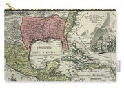 Vintage North America And Caribbean Map - 1720 Carry-all Pouch