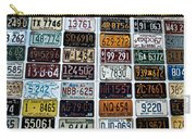 Vintage Number Plates Carry-all Pouch