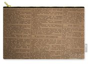 Vintage Old Classified Newspaper Ads Carry-all Pouch