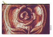 Vintage Ornamental Rose Carry-all Pouch