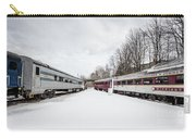 Vintage Passenger Train Cars In Winter Carry-all Pouch