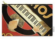 Vintage Piano Art Deco Carry-all Pouch