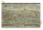 Vintage Pictorial Map Of Lyon France - 1555 Carry-all Pouch