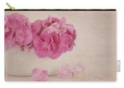 Vintage Pink Hydrangea Carry-all Pouch