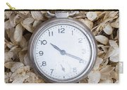 Vintage Pocket Watch Over Dried Flowers Carry-all Pouch
