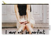 Vintage Poise Quote Carry-all Pouch