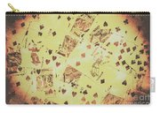 Vintage Poker Card Background Carry-all Pouch