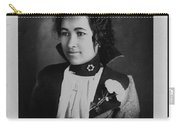 Vintage Portrait Of Colored Lady Carry-all Pouch